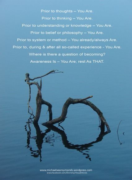 Prior To Thoughts - You Are, michael sean symonds