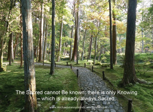 Knowing Is Sacred. michael sean symonds